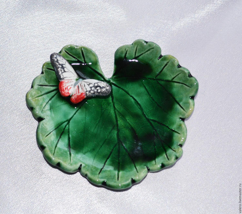 Керамика Бабочка на герани, Статуэтки, Санкт-Петербург, Фото №1