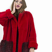 """Одежда ручной работы. Ярмарка Мастеров - ручная работа Шуба """"Красная"""". Handmade."""