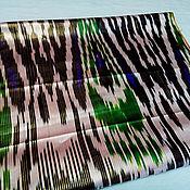 Материалы для творчества ручной работы. Ярмарка Мастеров - ручная работа Узбекский винтажный шелковый икат Хан атлас 2,85 метра. Handmade.