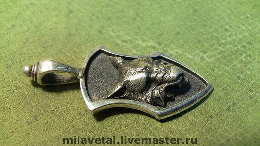 """Кулоны, подвески ручной работы. Ярмарка Мастеров - ручная работа. Купить Кулон """"ВОЛК"""". Handmade. Волк, с изображением волка, серебряный"""