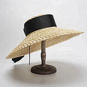 Аксессуары handmade. Livemaster - original item Straw hat with a voluminous weave of the field 17 cm.. Handmade.