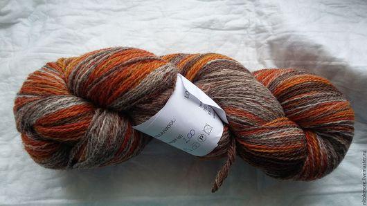 Вязание ручной работы. Ярмарка Мастеров - ручная работа. Купить Кауни Grey-orange 8/2. Handmade. Оранжевый, шерсть