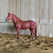 Мини фигурки и статуэтки ручной работы. Ярмарка Мастеров - ручная работа Фигурка «Рыжая лошадь», размер №2. Handmade.