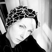 """Аксессуары ручной работы. Ярмарка Мастеров - ручная работа Повязка """"Черно-белое кино"""". Handmade."""