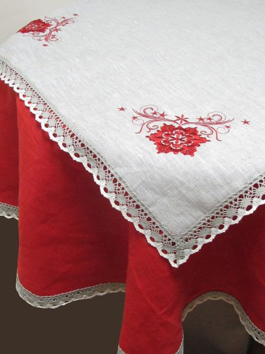 """Текстиль, ковры ручной работы. Ярмарка Мастеров - ручная работа. Купить Комплект столовый с круглой скатертью """"Изобилие"""" 2 предмета.. Handmade."""