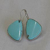 Украшения handmade. Livemaster - original item Earrings with turquoise. Handmade.