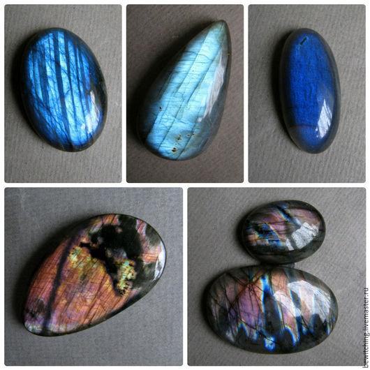 Лабрадор, лабрадорит, спектролит, кабошон для украшений.. Размеры и цены камней указаны под фото. №4 - Продан №2 - Резерв