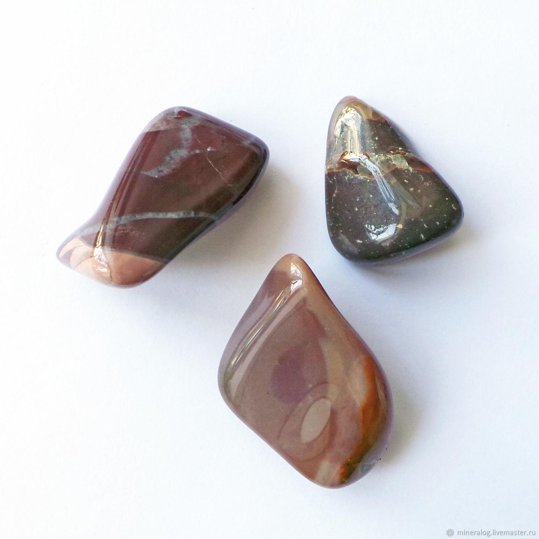 Минералы, друза ручной работы. Ярмарка Мастеров - ручная работа. Купить Яшма уральская цветная, натуральные окатанные продолговатые камни. Handmade.