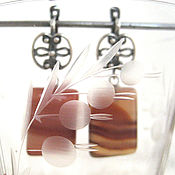 Украшения handmade. Livemaster - original item Earrings of agate Toffee. Handmade.