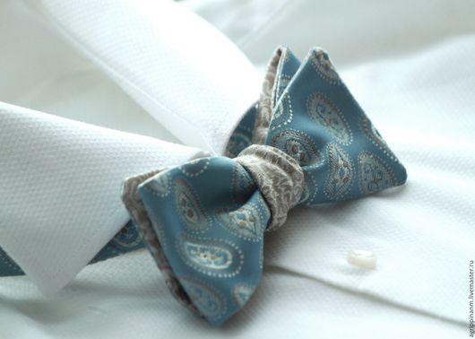 Галстуки, бабочки ручной работы. Ярмарка Мастеров - ручная работа. Купить Галстук-бабочка двусторонний. Handmade. Бабочка, бабочка-галстук