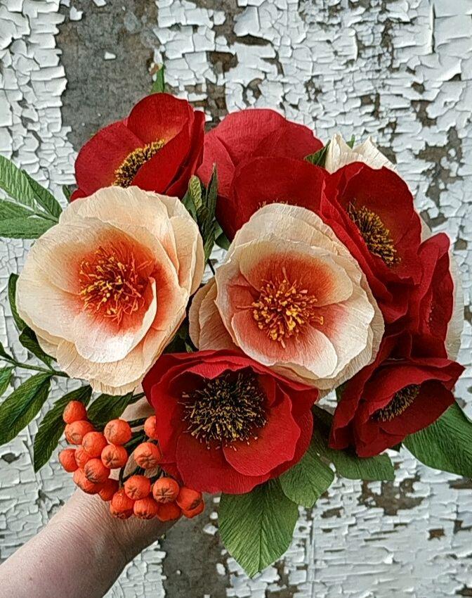 цветы из бумаги, Цветы, Москва,  Фото №1