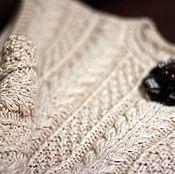 Одежда ручной работы. Ярмарка Мастеров - ручная работа Жилет -Шерстяной -жилет вязаный жилет ручной работы. Handmade.
