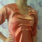 Одежда handmade. Livemaster - original item women`s blouse, silk blouse for every day, casual blouse. Handmade.