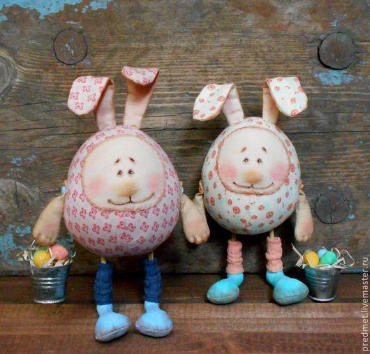 Коллекционные куклы ручной работы. Ярмарка Мастеров - ручная работа. Купить Пасхальные кролики. Handmade. Пасха, пара кроликов, акрил