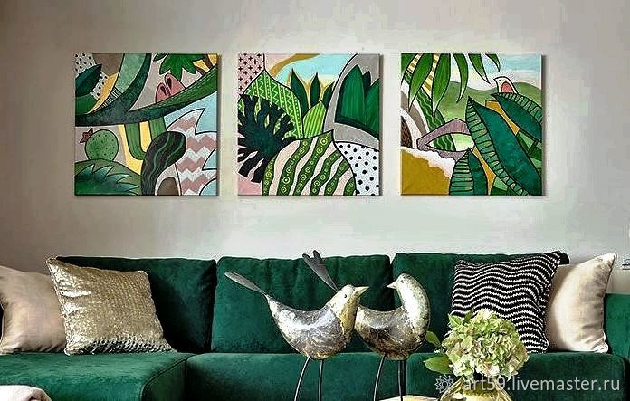 Abstract triptych ' Nature ', Pictures, St. Petersburg,  Фото №1