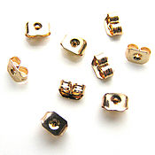 Материалы для творчества handmade. Livemaster - original item Plugs for puset earrings gold plated 24K South Korea pair. Handmade.