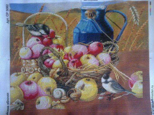 Натюрморт ручной работы. Ярмарка Мастеров - ручная работа. Купить корзина с яблоками. Handmade. Светло коричневый, желтый, красный