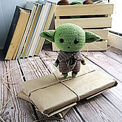 Куклы и игрушки handmade. Livemaster - original item Soft knitted toy Baby Yoda. Handmade.