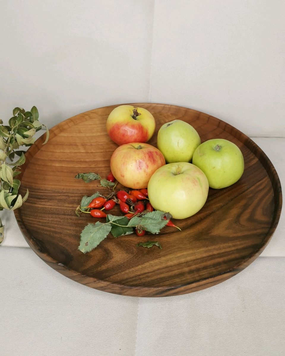 Блюдо из ореха деревянное большое, Тарелки, Санкт-Петербург,  Фото №1
