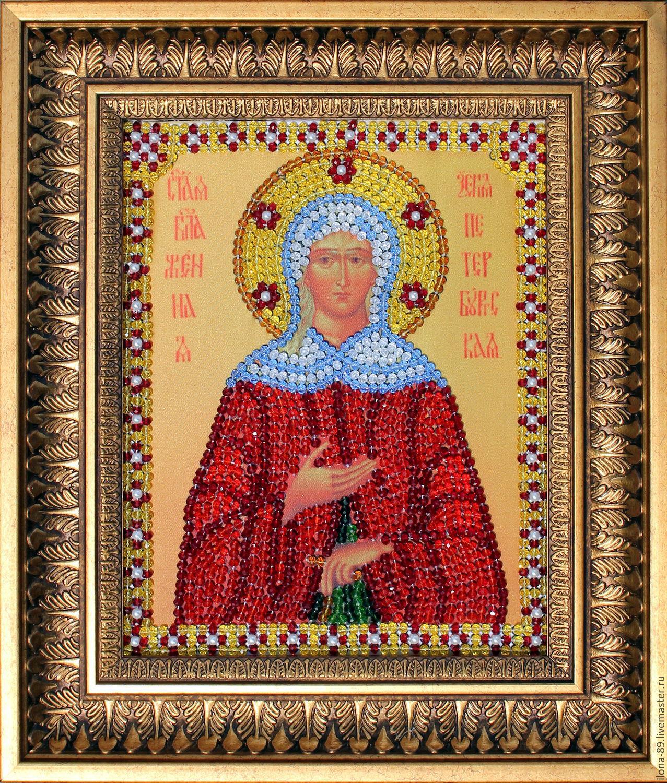 Вышивание крестиком иконы Ксении Петербургской 92