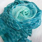Аксессуары ручной работы. Ярмарка Мастеров - ручная работа Шелковый шарф Лазурит. Handmade.