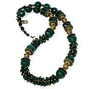 Украшения handmade. Livemaster - original item Green necklace in boho style