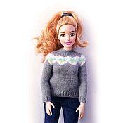 Одежда для кукол ручной работы. Ярмарка Мастеров - ручная работа Свитер для Барби или Блайз. Handmade.