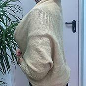 """Одежда ручной работы. Ярмарка Мастеров - ручная работа Кардигам кокон вязаный  """"Теплый песок"""". Handmade."""