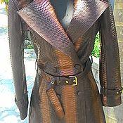 Одежда ручной работы. Ярмарка Мастеров - ручная работа Плащ/пальто из питона. Handmade.