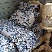 Для дома и интерьера handmade. Livemaster - original item Bedding set Blue rose. Handmade.