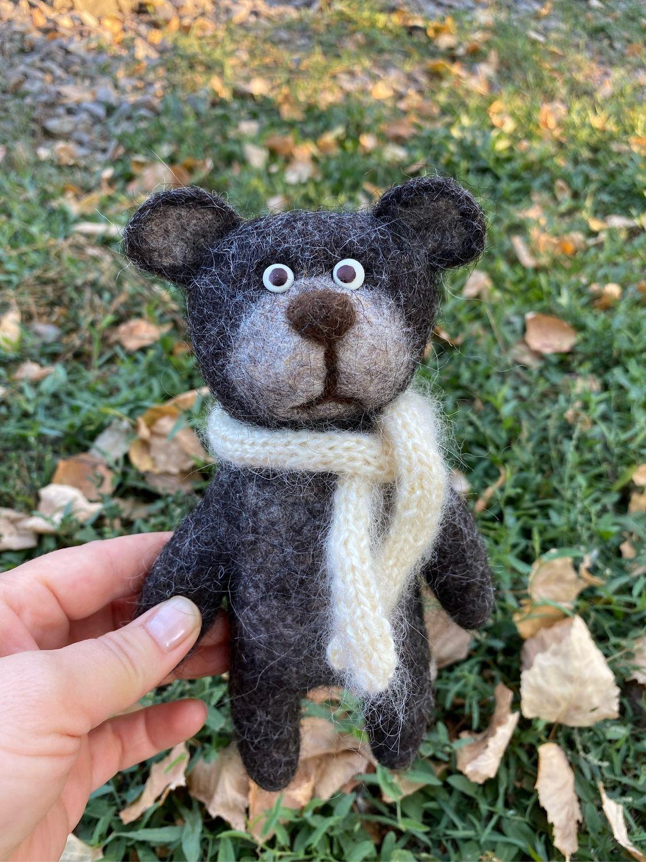 Мишка, медвежонок войлочный, медведь, Войлочная игрушка, Уфа,  Фото №1