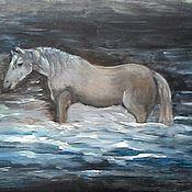 Картины и панно ручной работы. Ярмарка Мастеров - ручная работа Картина Лошадь в тумане. Handmade.
