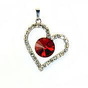 Украшения handmade. Livemaster - original item Pendant with Swarovski crystal. Handmade.