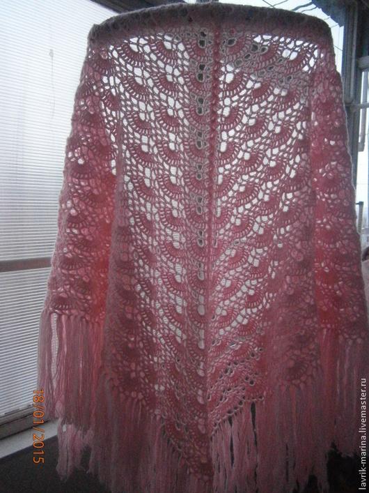 """Шали, палантины ручной работы. Ярмарка Мастеров - ручная работа. Купить Шаль """"Мечта"""". Handmade. Розовый, шаль вязаная"""