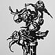 `Сухие розы` 10х18см, бумага, маркер