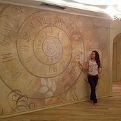 Дизайн и реклама ручной работы. Ярмарка Мастеров - ручная работа Роспись стены в зале. Handmade.