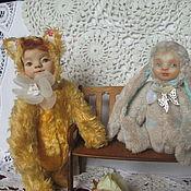 """Куклы и игрушки ручной работы. Ярмарка Мастеров - ручная работа Тедди - долл  """"Кисонька """". Handmade."""