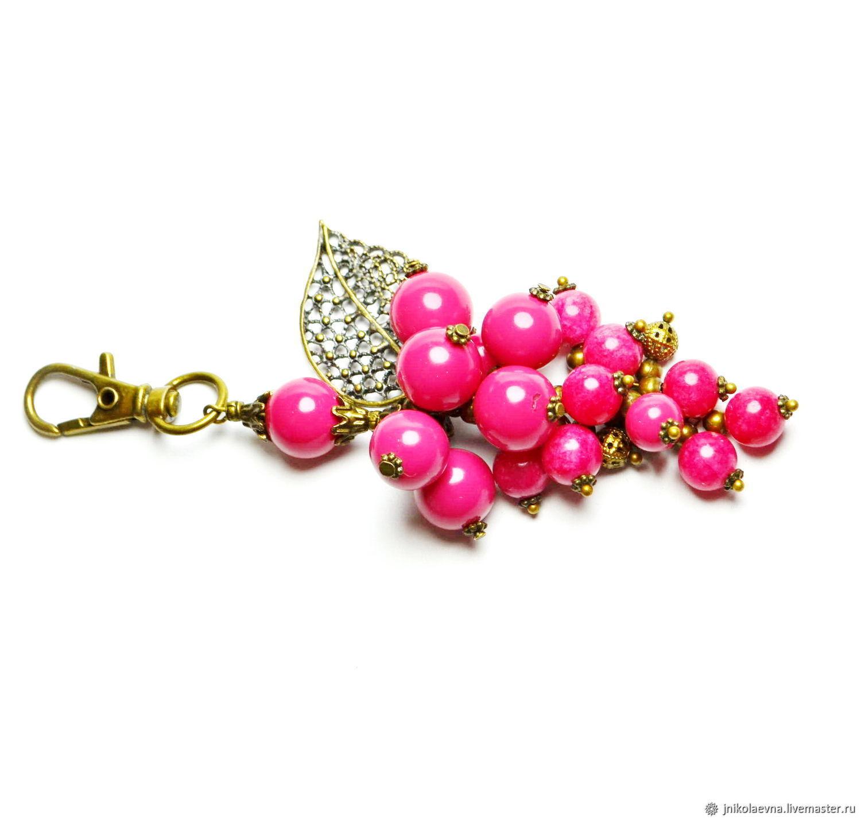 Брелок для ключей Гроздь розовая, Брелок, Подольск,  Фото №1