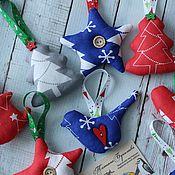 Украшения ручной работы. Ярмарка Мастеров - ручная работа Новогодние игрушки на ёлку. Handmade.