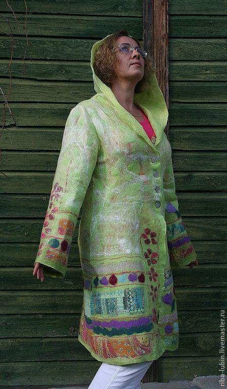 """Верхняя одежда ручной работы. Ярмарка Мастеров - ручная работа. Купить Пальто """"Цветные дни"""". Handmade. Пальто летнее"""
