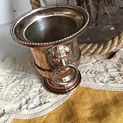 Винтаж handmade. Livemaster - original item Writing cup, silver-plated, Italy. Handmade.