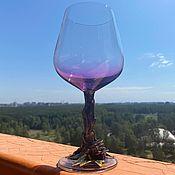 Посуда handmade. Livemaster - original item Purple dragon glass inlaid with amethyst. Handmade.