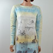 Одежда handmade. Livemaster - original item Author`s felted slip dress
