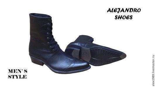 """Обувь ручной работы. Ярмарка Мастеров - ручная работа. Купить """"Men is Style"""". Handmade. Черный, мужская обувь"""