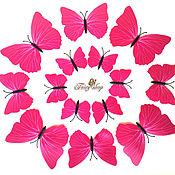Материалы для творчества handmade. Livemaster - original item Butterfly patterned. Crimson. 12 PCs. Handmade.