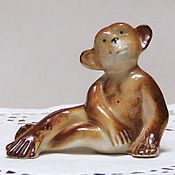 """Винтаж ручной работы. Ярмарка Мастеров - ручная работа Винтажная фарфоровая статуэтка """"Шимпанзе"""", начало 60-х, ГДР. Handmade."""