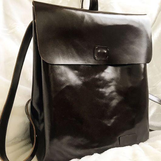 Женские сумки ручной работы. Ярмарка Мастеров - ручная работа. Купить Рюкзак из натуральной кожи. Handmade. Рюкзак ручной работы