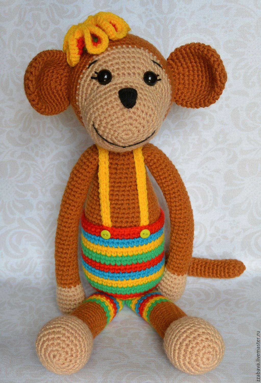 Вязание игрушек обезьян крючком