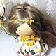 Человечки ручной работы. Заказать Цветочная фея. ELENA FEDULOVA Текстильные куклы. Ярмарка Мастеров. Кукла ручной работы