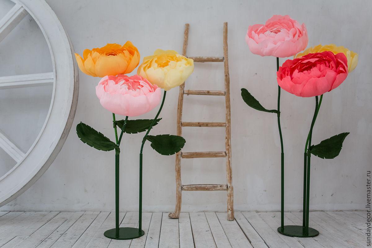 Как сделать большие цветы длясессии